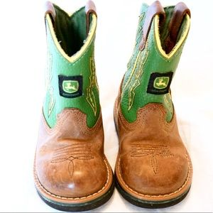 John Deere toddler cowboy boots green size6 farmer